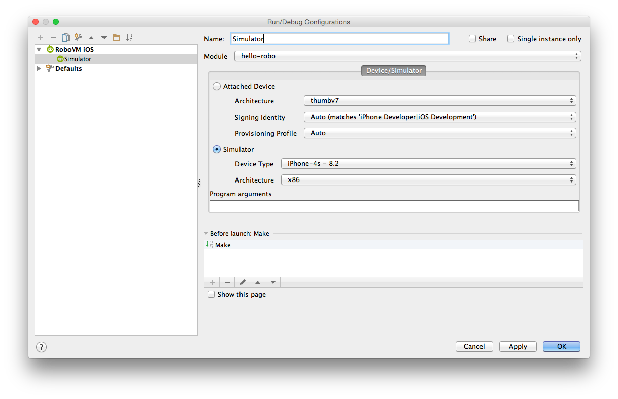 Getting Started with IntelliJ · RoboVM User Guide